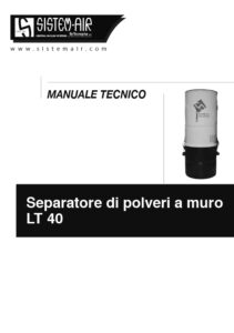 foto copertina manuale tecnico separatore polveri Sistem Air