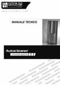 foto copertina manuale tecnico Autocleaner