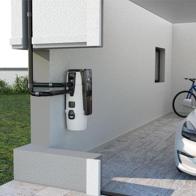 centrale aspirante installata in garage
